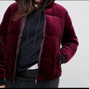 Simply Be. velvet velour puffer jacket coat 22